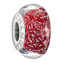 Chamilia Sterling Silver Murano Dichroic Red Glass Bead - Product number 1413155