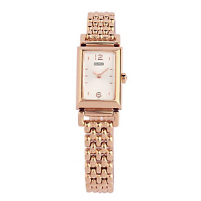 Coach Madison ladies' rose gold-plated bracelet watch - Product number 1413198