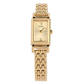 Coach Madison ladies' gold-plated bracelet watch - Product number 1413201