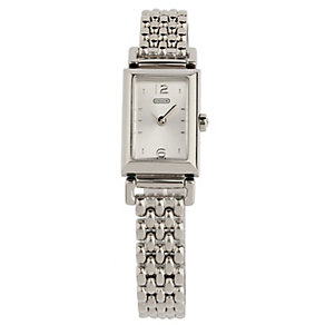 Coach Madison ladies' rectangular dial bracelet watch - Product number 1413228