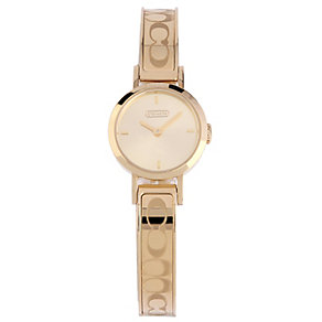 Coach Signature Studio ladies' gold-plated bracelet watch - Product number 1413236