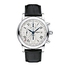 Montblanc Star men's black leather strap watch - Product number 1413422