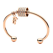 Folli Follie Dice rose gold-plated crystal bracelet - Product number 1413554