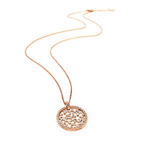 Folli Follie Fiorissimo rose gold-plated crystal necklace - Product number 1413635