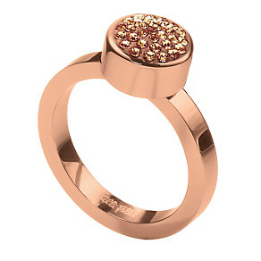 Folli Follie Bling Chic rose gold-plated ring size L 1/2 - Product number 1413899