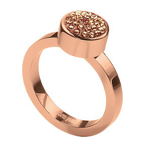 Folli Follie Bling Chic rose gold-plated ring size N - Product number 1413902