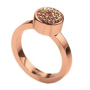 Folli Follie Bling Chic rose gold-plated ring size O 1/2 - Product number 1413910