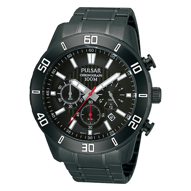 Pulsar Men's Black Ion-Plated Bracelet Watch - Product number 1414720