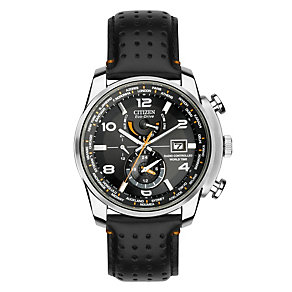 Citizen Eco-Drive men's stainless steel black strap watch - Product number 1416529