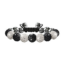 Crystalla Black & Silver Crystal Bead Bracelet - Product number 1416537
