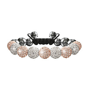 Crystalla Rose & Clear Crystal Bead Bracelet - Product number 1416618