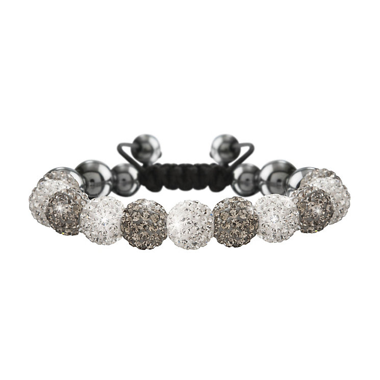 Crystalla Grey & Clear Crystal Bead Bracelet - Product number 1416626