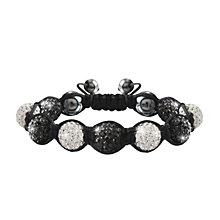 Crystalla Black & Clear Crystal Bead Bracelet - Product number 1416642