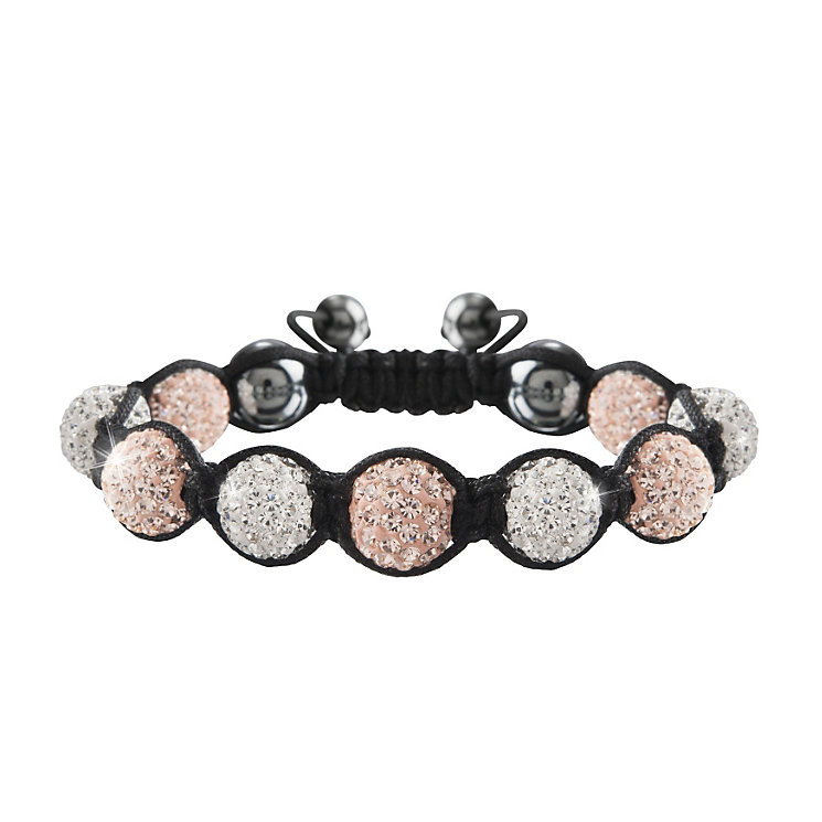 Crystalla Rose & Clear Crystal Bead Bracelet - Product number 1416669