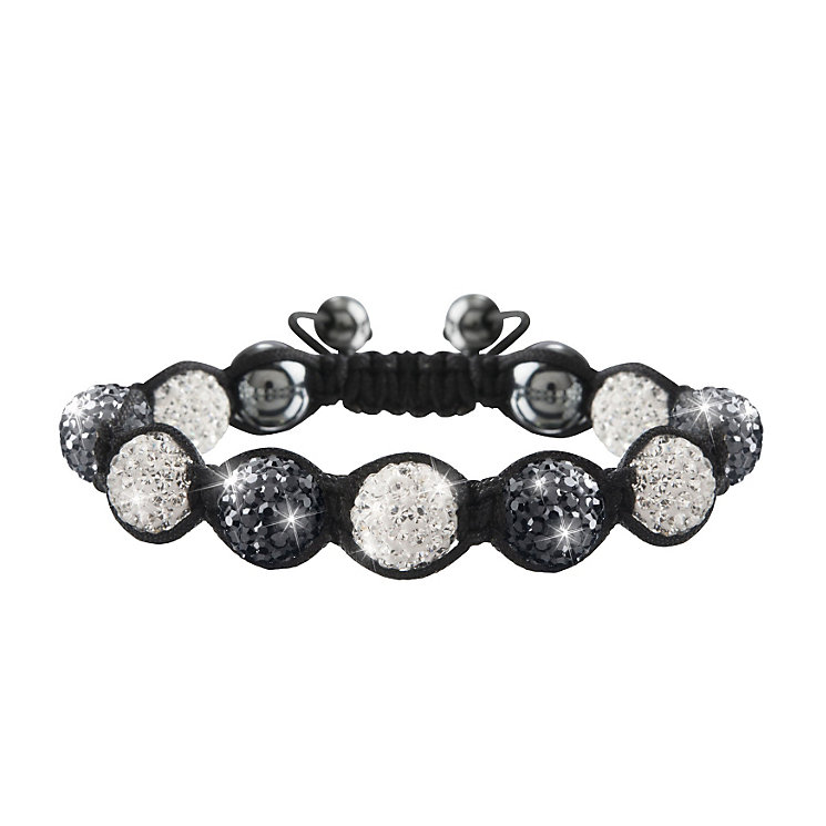 Crystalla Black & Grey Crystal Bead Bracelet - Product number 1416685
