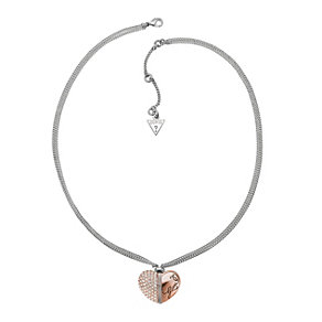 Guess Heart & Soul Rose Gold-Plated Heart Necklace - Product number 1417622