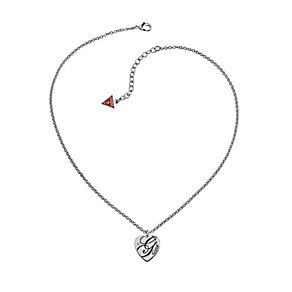 Guess Rhodium-Plated 'All Mixed Up' Heart Pendant - Product number 1417665