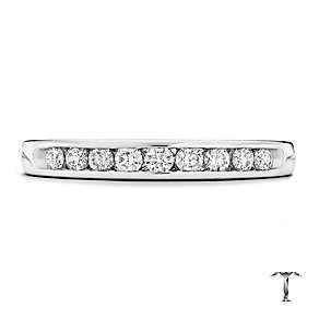 Tolkowsky 18ct white gold 0.25ct HI-SI2 diamond ring - Product number 1417843