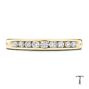 Tolkowsky 18ct yellow gold 0.25ct HI-SI2 diamond ring - Product number 1417975