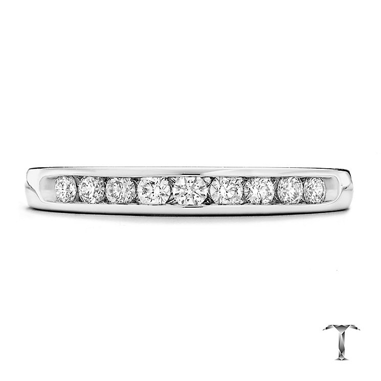 Tolkowsky platinum 0.25ct HI-SI2 diamond ring - Product number 1419234