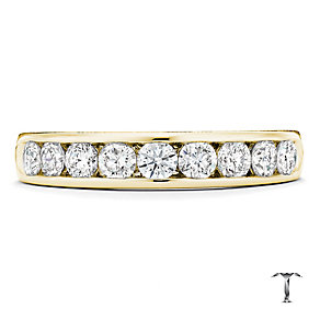 Tolkowsky 18ct yellow gold 0.75ct I-I1 diamond ring - Product number 1420828