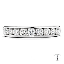 Tolkowsky platinum 0.75ct I-I1 diamond ring - Product number 1420941