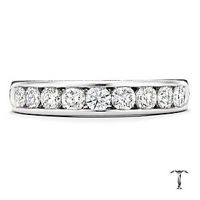 Tolkowsky 18ct white gold 0.75ct HI-SI2 diamond ring - Product number 1421085
