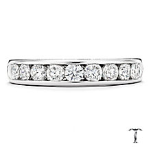 Tolkowsky platinum 0.75ct HI-SI2 diamond ring - Product number 1421352