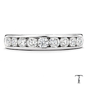 Tolkowsky platinum 0.75ct HI-SI2 diamond ring - Product number 1421352