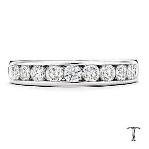 Tolkowsky platinum 0.75ct HI-VS2 diamond ring - Product number 1421743