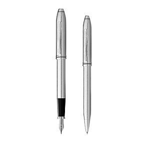 Cross Townsend chrome ballpoint & fountain pen set - Product number 1424181