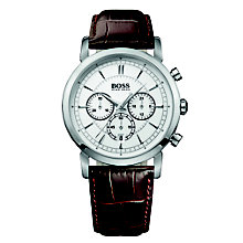 Hugo Boss men's chronograph brown leather strap watch - Product number 1425501