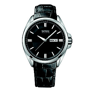 Hugo Boss men's black leather strap watch - Product number 1425528