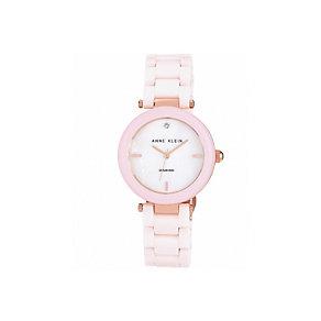 Anne Klein Ladies' Rose Gold Tone Ceramic Bracelet Watch - Product number 1425587