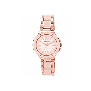 Anne Klein Ladies' Rose Gold Tone Pink Bracelet Watch - Product number 1425617