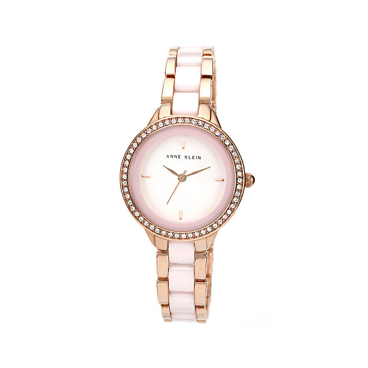 Anne Klein Ladies' Rose Gold Tone Pink Bracelet Watch - Product number 1425633