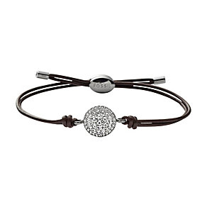 Fossil Iconic Crystal Brown Leather Bracelet - Product number 1426745