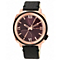 Vince Camuto Ladies' Rose Gold Tone Black Strap Watch - Product number 1426931