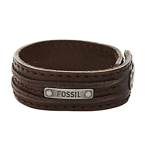 Fossil Men's Brown Leather Cuff - Product number 1427008