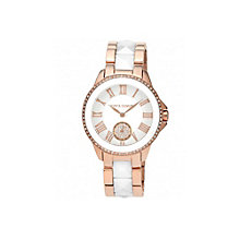 Vince Camuto Men's Ceramic & Rose Gold Tone Bracelet Watch - Product number 1427237
