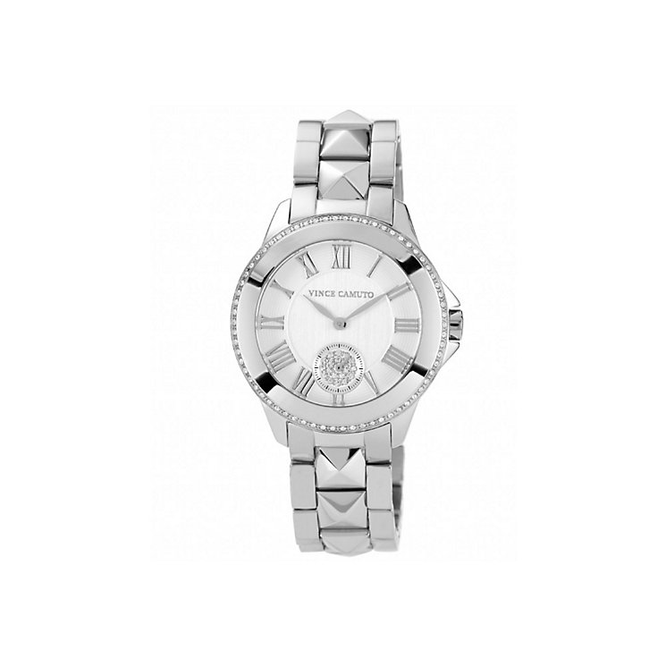 Vince Camuto Men's Stone Set Stainless Steel Bracelet Watch - Product number 1427245