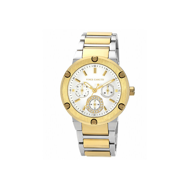 Vince Camuto Men's Stainless Steel Two Tone Bracelet Watch - Product number 1427261