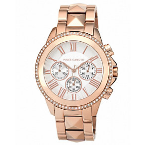 Vince Camuto Men's Rose Gold Tone Bracelet Watch - Product number 1427296