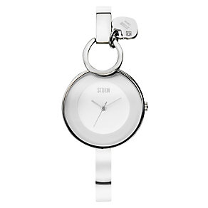 Storm Ladies' White Dial Charm Bangle Watch - Product number 1427407