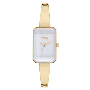 Storm Ladies' White Dial Gold-Plated Bangle Watch - Product number 1427423