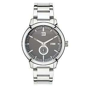 Storm Men's Grey Dial Stainless Steel Bracelet Watch - Product number 1427482