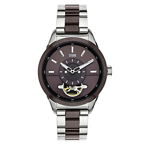 Storm Men's Brown Dial Two Colour Bracelet Watch - Product number 1427504