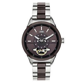 Storm Men's Brown Dial Two Colour Bracelet Watch - Product number 1427504