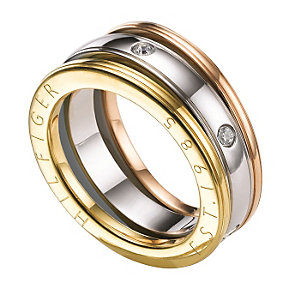 Tommy Hilfiger Ladies' Stainless Steel Three Colour Ring - Product number 1427679