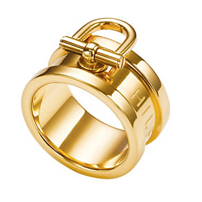 Tommy Hilfiger Ladies' Gold Plated Ring - Size N 1/2 - Product number 1427768